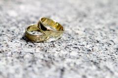 Détail de boucles de mariage Images libres de droits
