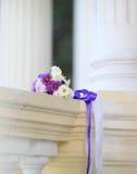 Détail de bouquet de mariage Photographie stock