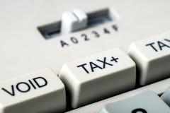 Détail de bouton d'impôts d'une calculatrice Image libre de droits