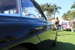 Détail de côté de voiture de course de vintage Image stock