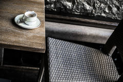 Détail de café à Londres photos stock