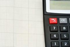 Détail de calculatrice Image stock