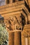 Détail de capital gothique dans l'expert en logiciel Velha Photographie stock libre de droits