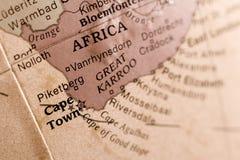 Détail de carte de Capetown Image libre de droits