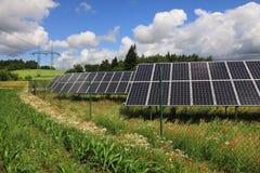 Détail de centrale solaire photos libres de droits