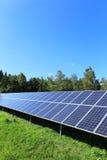 Détail de centrale solaire image libre de droits