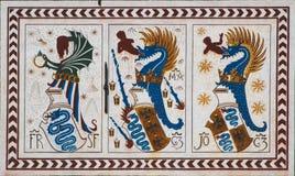 Détail de château de Sforzesco à Milan, Italie images stock