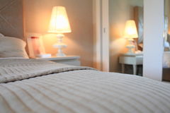 Détail de chambre à coucher Photos stock