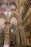 Détail de chambre forte de cathédrale de notre Madame de grâce et de saint Juli Image libre de droits