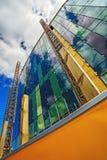 Détail de chantier de construction moderne d'immeuble de bureaux Photographie stock