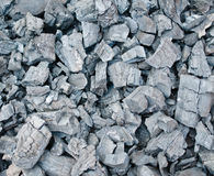 Détail de charbon de bois pour le fond Photos stock
