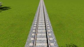 Détail de chemin de fer italien vu de l'Europe ci-dessus Image stock