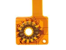 Détail de circuit imprimé fléchi photographie stock