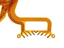 Détail de circuit imprimé fléchi images libres de droits