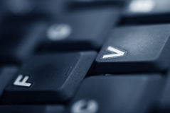 Détail de clavier d'ordinateur portatif Photographie stock libre de droits