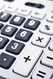 Détail de clavier de calculatrice Photographie stock