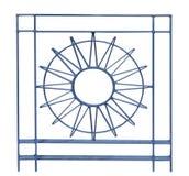 Détail de conception fleurie de Sun de métal ouvré Images libres de droits