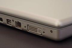 Détail de connexions d'ordinateur portatif Images libres de droits