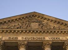 Détail de construction de Reichstag Images libres de droits
