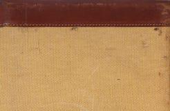 Détail de cuir et texture tissée pour le fond Photographie stock libre de droits