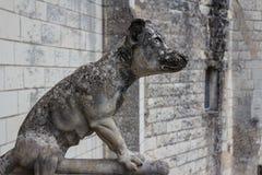 Détail de décoration du château médiéval de Loches Images libres de droits