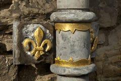 Détail de drain de château d'Edimbourg Images libres de droits