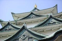 Détail de façade de château de Nagoya photo stock