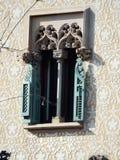 Détail de fenêtre d'Amatller de maison Photo libre de droits