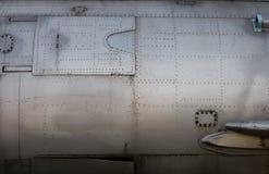 Détail de fuselage de chasseur Image stock