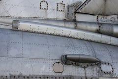 Détail de fuselage de chasseur Images stock