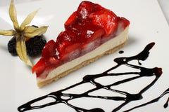 Détail de gâteau de fraise Photo libre de droits