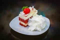 Détail de gâteau de fraise Images libres de droits
