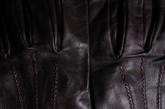 Détail de gants en cuir de Brown II Photos libres de droits