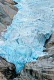 Détail de glacier de Briksdalsbreen en Norvège Photographie stock