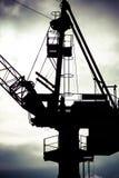 Détail de grue industrielle dans des chantiers navaux de Danzig Photos libres de droits