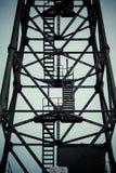 Détail de grue industrielle dans des chantiers navaux de Danzig Photos stock