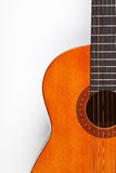 Détail de guitare acoustique Photo stock