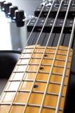 Détail de guitare basse Images libres de droits