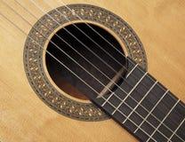 Détail de guitare classique Photos stock