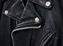 Détail de jupe en cuir Photo stock