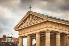 Détail de l'architecture de l'église de la configuration d'en de St Germain Images libres de droits