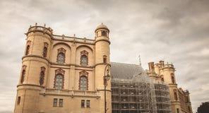Détail de l'architecture du château de la Renaissance de la GE de saint Photos stock