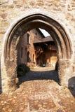 Détail de l'entrée dans le château de loket Photo libre de droits