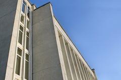 Détail de l'immeuble industriel et de bureaux photo stock