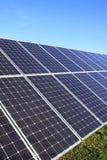 Détail de la centrale électrique solaire photo stock