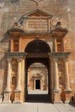 Détail de la construction antique de monastère Photographie stock