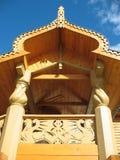 Détail de la décoration du hou en bois Photos stock