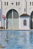 Détail de la façade arrière du bâtiment de moruno dans la ville de Photographie stock libre de droits