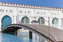 Détail de la façade arrière du bâtiment de moruno dans la ville de Images stock