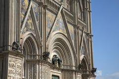Détail de la façade de cathédrale d'Orvieto photo libre de droits